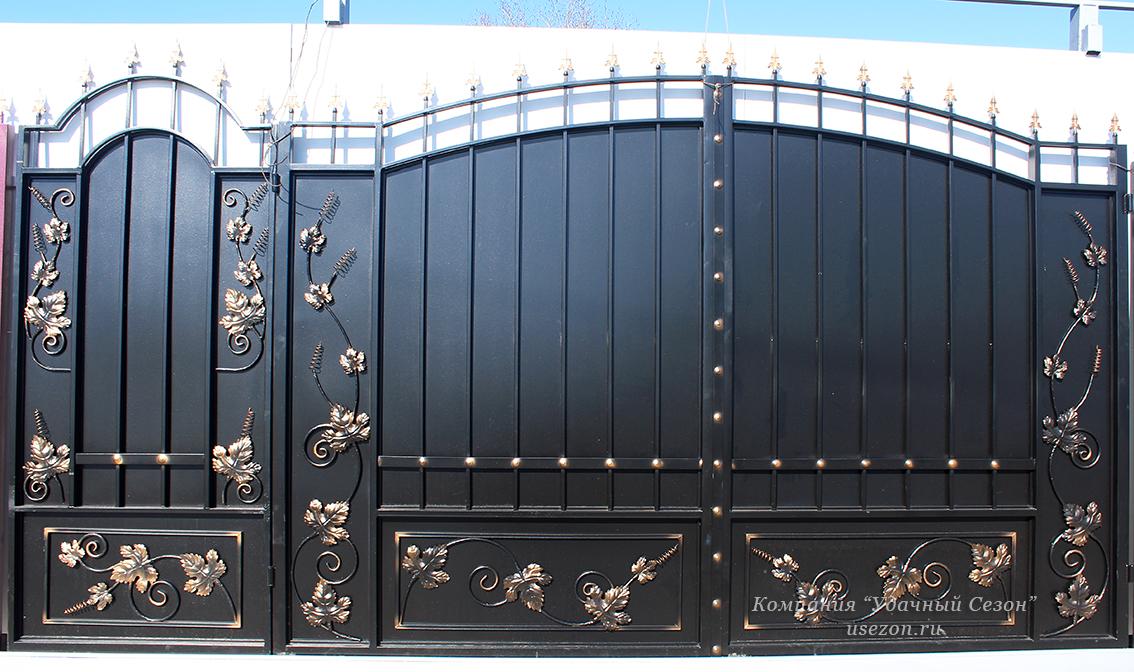 Смотреть ворота металлические фото автоматика для автоматических откатных ворот
