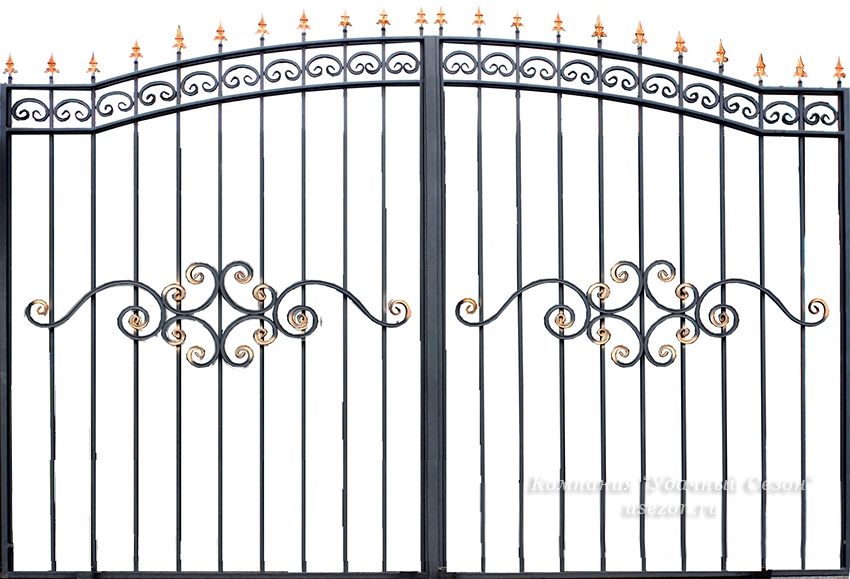Кованые ворота чертежи цена